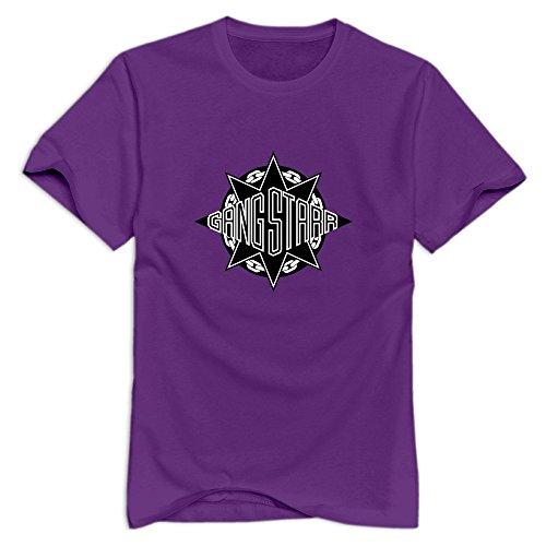 GYKU Men's Gang Starr T-Shirt ForestGreen US Size M,100% Organic -