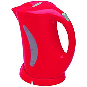 Salton JK1439 Cordless Electric Jug Kettle 1.7-Liter, Red