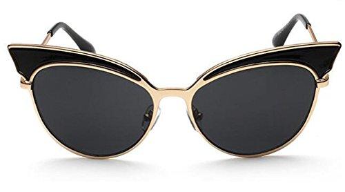GAMT Trend Retro Sexy Cat Eye Sunglasses Yurt Chic Cat Eye Sun Glasses Super Popular Gold Frame Black