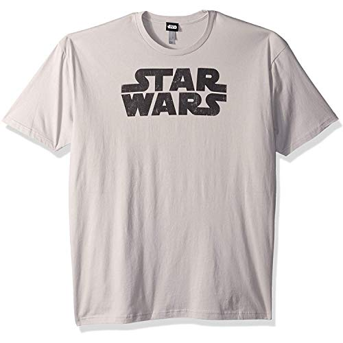 Star Wars Men's Simplest Logo Graphic Tee, Silver, 3X-Large