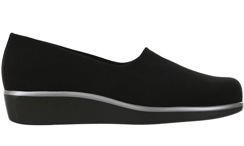 Women's SAS, Bliss Slip on Low Heel Shoes BLACK 7.5 WW