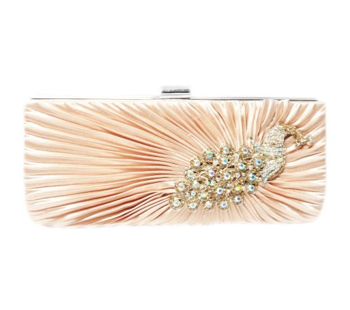 Clutch Party 10 Peacock with Rhinestone inch Champagne Strap TdZ wOtxaAqIO