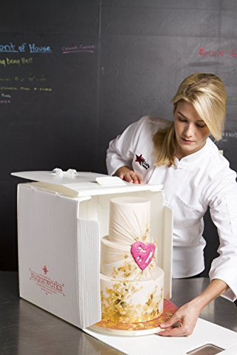 """Innovative Sugarworks Small Cake Porter with Insulated Cover and Cake Carrier, 14"""" x 14"""" x 16"""", White"""