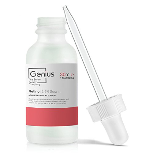 GENIUS Retinol 2.5 Serum | The Smart Retinol Serum, with Hyaluronic Acid + Vitamin C Added GENIUS-ly Remove Fine Lines and Wrinkles (Face, Neck, Eye) 1FL Oz. - Genius Eye