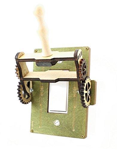 Green Tree Jewelry Steampunk Decora Rocker Throw Switch Green Wood Light Switch Plate Cover