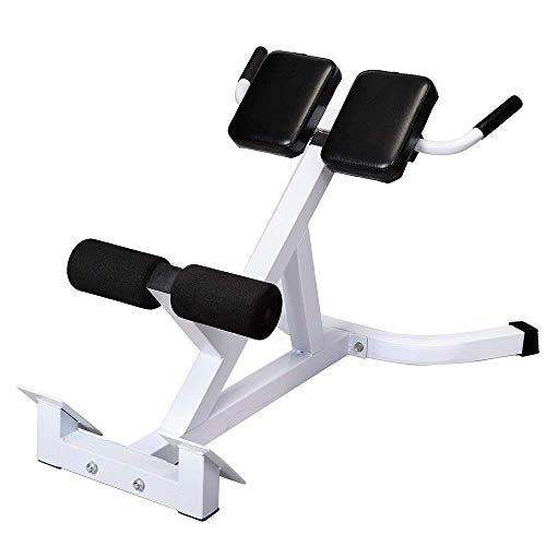 GUJJI FUN Roman Chair,Hyperextension Bench Adjustable 45 Degree AB Back Abdominal Exercise Machine White & Black