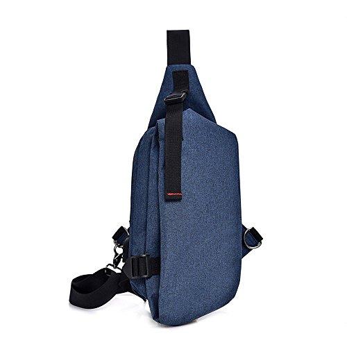 hombro al YHJM gris Gris Bolso Azul para de Lona hombre 7pCSnUSwqx