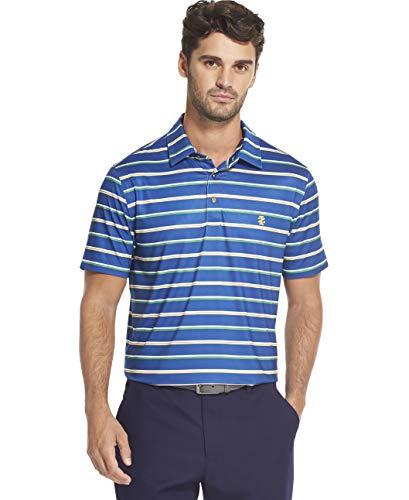IZOD Men's Golf Fashion Short Sleeve Polo Shirt, True Blue, Medium