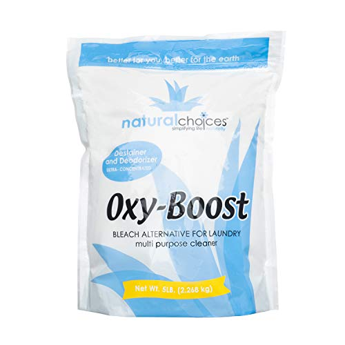 (Natural  Choices OXY-Boost Stain Remover, Laundry Detergent, Surfactant Cleaner )