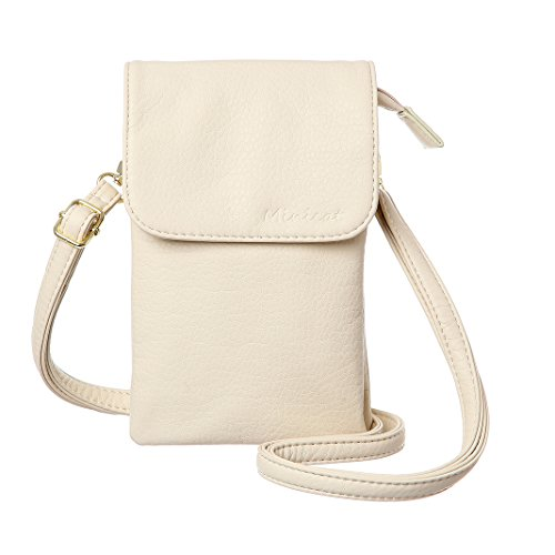 Beige Cell Phone - MINICAT Roomy Pockets Series Small Crossbody Bags Cell Phone Purse Wallet For Women(Beige)