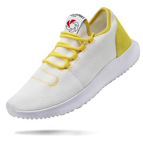 Young Apparel Mens (CAMVAVSR Men's Workout Shoes Fashion Running Sneakers Slip on Lightweight Soft Sole for Young Men White Size 6.5)