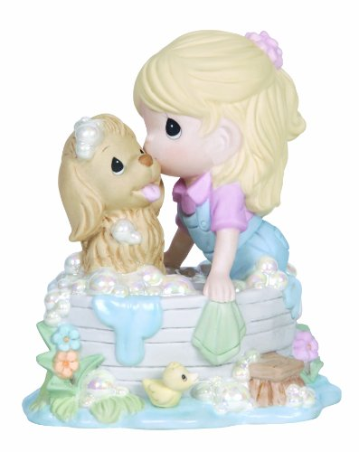 [Precious Moments,  We're In This Together, Bisque Porcelain Figurine, 134014] (Precious Moments Bath)