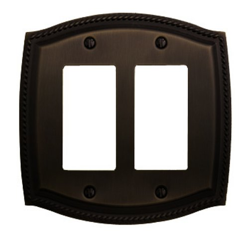 Baldwin 4797.112.CD Rope Design Double GFCI Switch Plate, Venetian Bronze (Plate Rope Cd Switch)