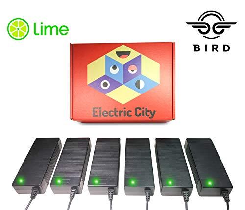 Lime Scooter Charger 6-Pack | Bird, Lime-S, Skip, Spin, Mijia M365, Segway Ninebot Es4, Es3, Es2, Es1 Compatible.