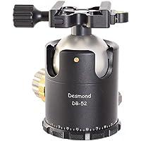 Desmond DB-52 52mm Ball Head Arca / RRS Compatible w Pan Lock & DAC-X1 Clamp for Tripod