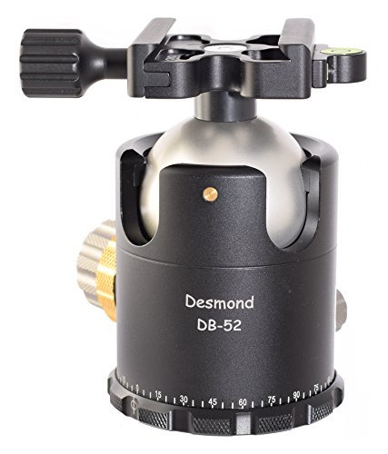 Desmond DB-52 52mm Ball Head Arca / RRS Compatible w Pan Lock & DAC-X1 Clamp for Tripod by Desmond