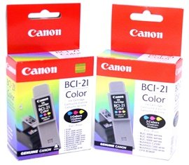 Canon BCI-21 Color Ink Tank Twin Pack (Ink Tank Twin Pack)