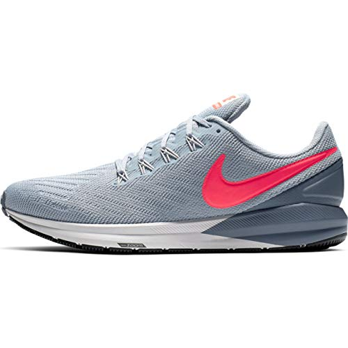 9 Structure Mist - Nike Men's Air Zoom Structure 22 Running Shoe Obsidian Mist/Bright Crimson/Armory Blue Size 9 M US