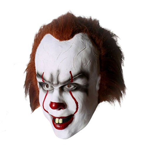 Details about Stephen King's It Mask Pennywise Clown Mask Halloween Cosplay Costume Props 2017 (A)