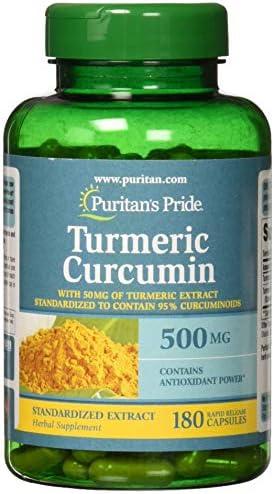 Puritan s Pride Turmeric Curcumin 500 mg-180 Capsules