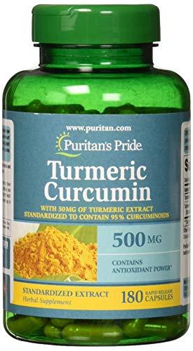 Puritan's Pride Turmeric Curcumin 500 mg-180 Capsules ()