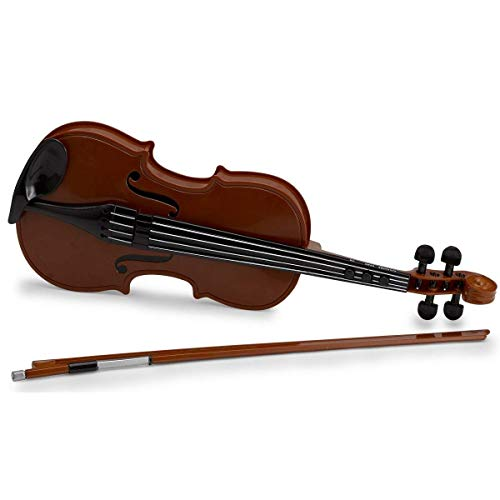 Kicko 1 Pack Electronic Violin Toy - Cool and Fun Wooden Look, Musical Instrument Toys for Kids - 16.5 Inch - Educational, Musical Toys