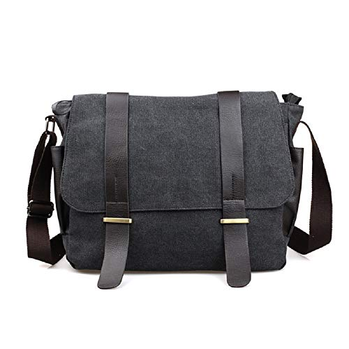 Briefcase Travel For Leisure Black Shoulder Unitasche Bag Laptop Student Zhrui Office Canvas Diagonal CcpqStwWBg