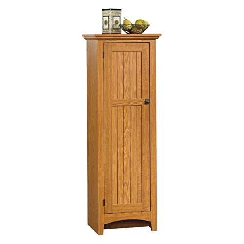 Summer Home Pantry, Three Adjustable Shelves, Framed Door Carolina Oak Laminate Finish