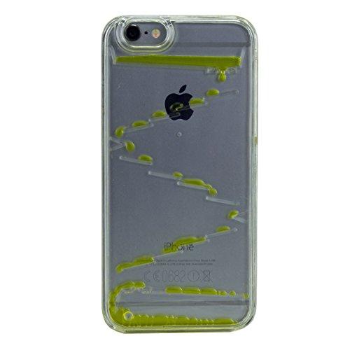 """Hard Case Schutz Hülle """"Yellow Liquid"""" für """"Apple Iphone 6s"""" Handy Tasche Schale Cover Schutz Hülle Bumper Back Case"""