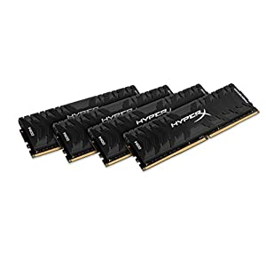 HyperX Kingston 64GB 3000MHZ DDR4 CL15 DIMM (KIT of 4) XMP Predator (HX430C15PB3K4/64) - 64GB Kit (4 x 16GB), Black 41kAJb53O5L. SS300