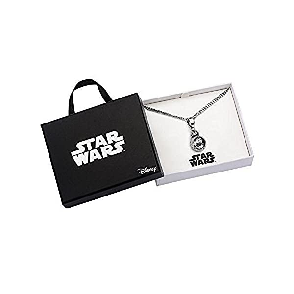 Disney Women's Stainless Steel Star Wars Episode 7 BB-8 3D Pendant with Chain
