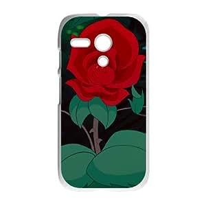Motorola G Cell Phone Case White Alice in Wonderland Character The Rose Fgar