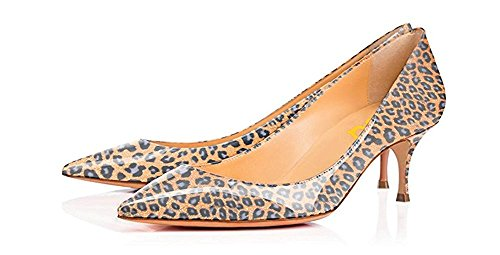 FSJ Women Sexy Leopard Snake Animal Prints Shoes Pointed Toe Kitten Low Heels Dress Pumps Size 4-15 US Light-brown-leopard cheap sale browse official site cheap price cheap with paypal 4pQp7kDWg