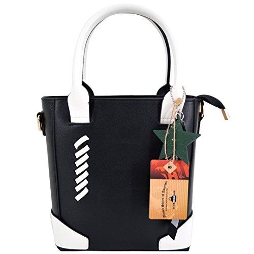 Trendy Tassel Messenger Bag Black - 8
