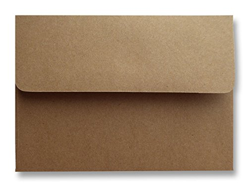 Kraft Grocery Bag Brown 25 Pack 70lb A6 (4-3/4 x 6-1/2) Envelopes for 4 X 6 Invitations Announcements Showers Weddings from The Envelope Gallery