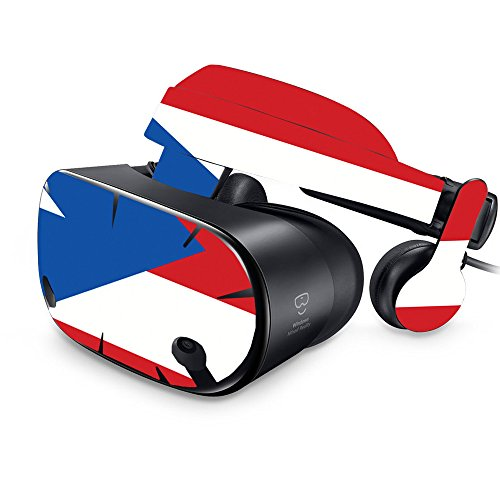 MightySkins Skin for Samsung Odyssey VR - Puerto Rican Flag | Protective, Durable, and Unique Vinyl Decal wrap Cover | Easy to Apply, Remove, and Change Styles | Made in The USA