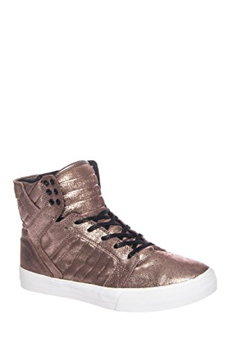 Supra Mens Skytop Steg Guld Metallic / Vit Gymnastiksko Mens 11 D (m)