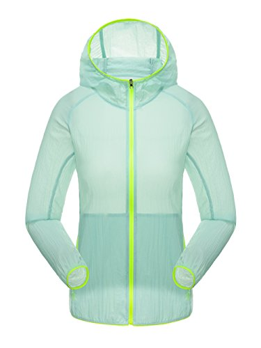 homaok-mens-womens-super-lightweight-quick-dry-summer-trench-coat-x-large-light-green
