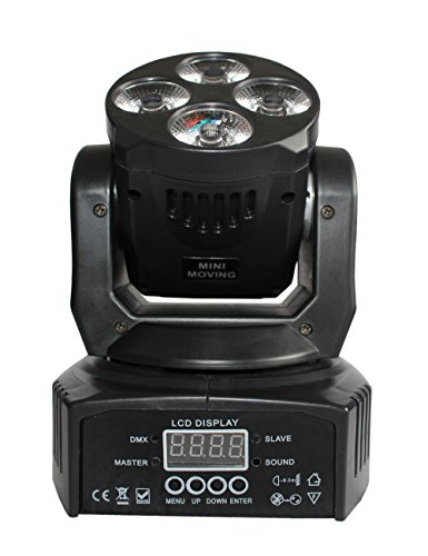 Delighting Wash Beam Light 60W Led Mini Moving Head Stage Lighting DMX Control Sound Activated 14/16 Channels 4Pcs 12w RGBWA UV 6 In 1 High Bright Dj Black Light