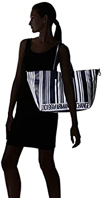 A X Armani Exchange Barcode Print Shopping Bag
