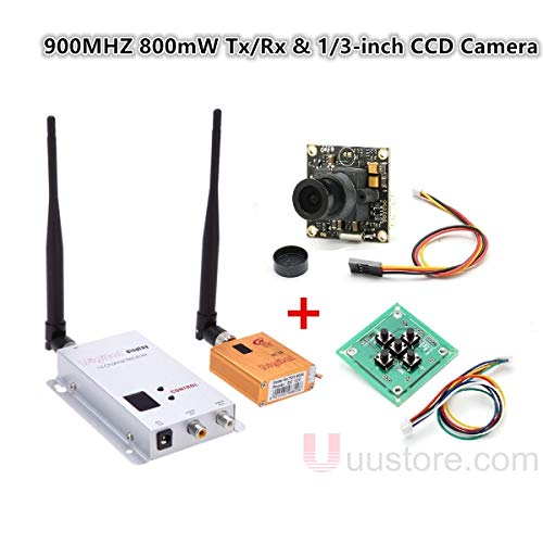 900 Mhz Video - ShineBear Wireless FPV Aerial Video Telemetry 800mW 900MHZ 4CH Transmitter 12CH Receiver Audio Video Transmission & 1/3-inch CCD Camera
