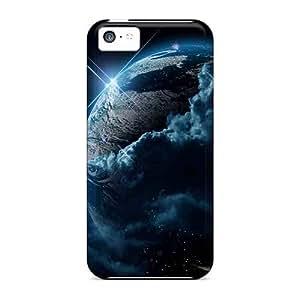 Cute Tpu DaMMeke Earth And Moon Case Cover For Iphone 5c