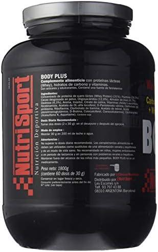 Nutrisport Bodyplus Chocolate 1,8Kg. 1000 Ml