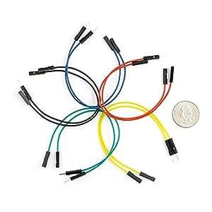 Set de cables Macho / Hembra 15cm (10 Unid.), para Placas Prototipo (Protoboard)