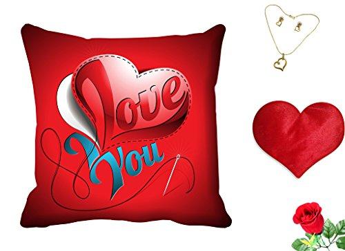 meSleep Love You Valentine Digital Printed Cushion (With Filler) free