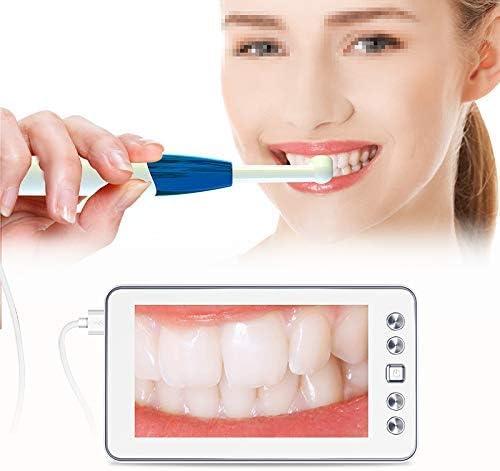 WQYRLJ Visual Oral Dental Endoscope 11Mm Borescope Handheld Dental Camera 2 Million HD 4.3 Inch Ear Camcorder Health Tool