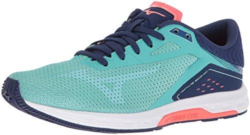 Mizuno Running Women's Wave Sonic Running Shoe, Turquoise/Yucca, 9.5 B US