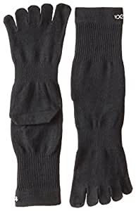 ToeSox Sport Perfdry Light Weight Crew Socks, X-Small, Black