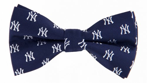 MLB New York Yankees Repeated Logo Bow Tie - Navy Blue by Eagles Wings
