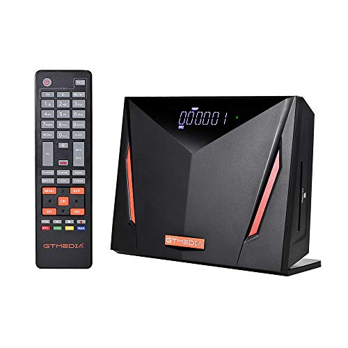 GTMEDIA V8 UHD 4K Ultra HD Digital Satellite Receiver, FTA H.265 TV Sat Decoder DVB-S/S2/S2X+T/T2/Cable/ISDB-T/ATSC-C, Built-in 2.4G WiFi, Supports CA Smart Card, Biss Auto-roll